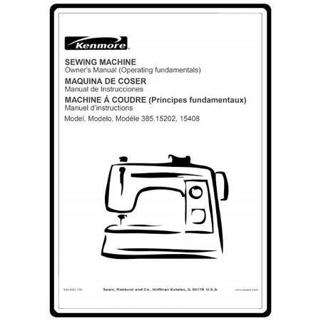 Instruction Manual, Kenmore 385.15408 Models : Sewing
