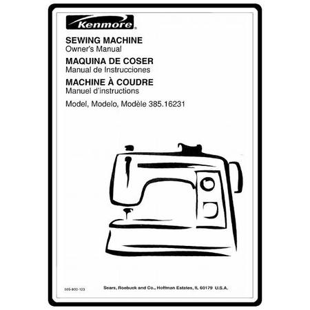 Instruction Manual, Kenmore 385.16231300 Models : Sewing