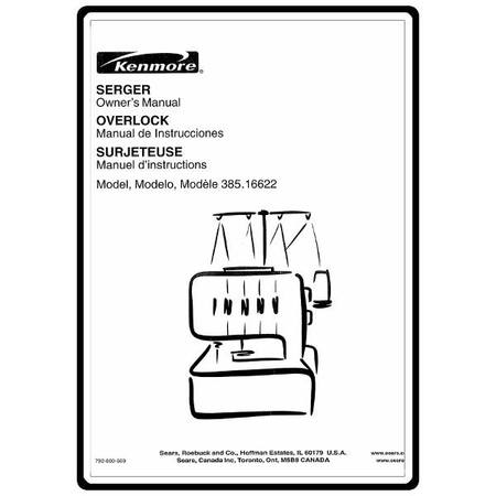 Instruction Manual, Kenmore 385.16622 : Sewing Parts Online