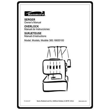 Instruction Manual, Kenmore 385.16655100 : Sewing Parts Online