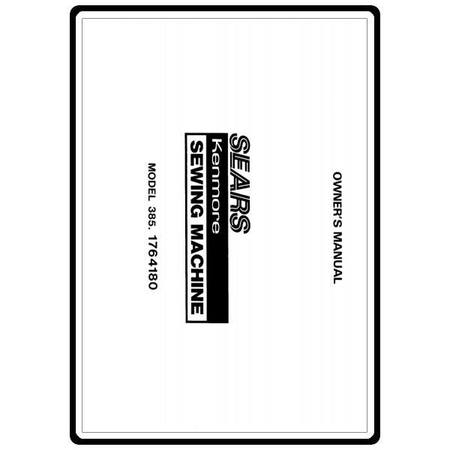 Instruction Manual, Kenmore 385.1764180 : Sewing Parts Online