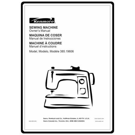 Instruction Manual, Kenmore 385.19606400 : Sewing Parts Online