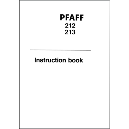 Instruction Manual, Pfaff 212 : Sewing Parts Online