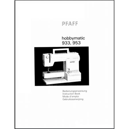 Instruction Manual, Pfaff Hobbymatic 953 : Sewing Parts Online