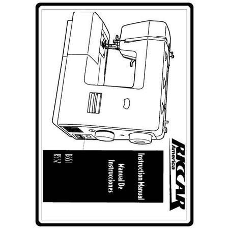 Instruction Manual, Riccar R651 : Sewing Parts Online