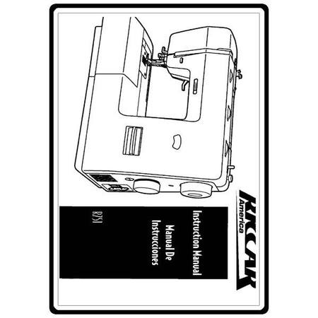 Instruction Manual, Riccar R751 : Sewing Parts Online