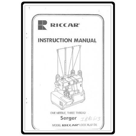 Instruction Manual, Riccar RL613 : Sewing Parts Online