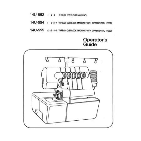 Instruction Manual, Singer 14U554 : Sewing Parts Online