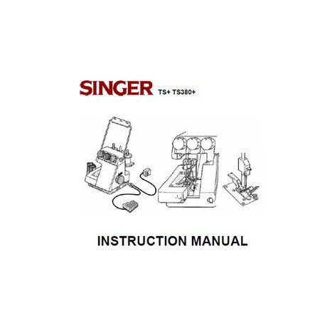Instruction Manual, Singer TS380A (Tiny Serge) : Sewing