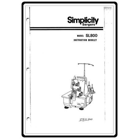 Instruction Manual, Simplicity SL800 : Sewing Parts Online