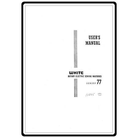 Instruction Manual, White 77 : Sewing Parts Online