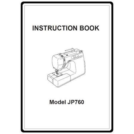 Instruction Manual, Janome JP760 Jem Platinum : Sewing