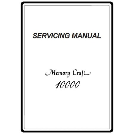 Service Manual, Janome MC10000 : Sewing Parts Online
