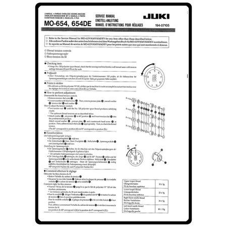 Service Manual, Juki MO-654DE : Sewing Parts Online