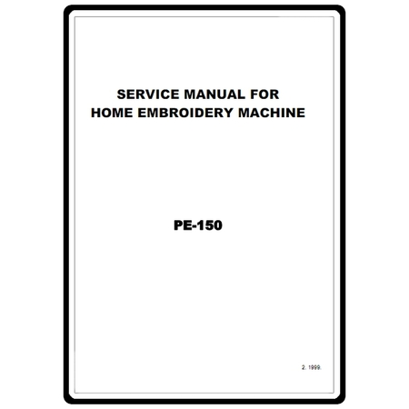 Service Manual, Brother PE150 : Sewing Parts Online