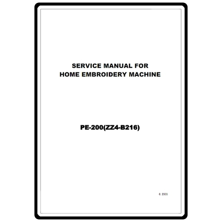 Service Manual, Brother PE-200 : Sewing Parts Online