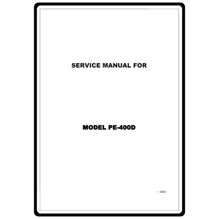Service Manual, Brother PE400D : Sewing Parts Online
