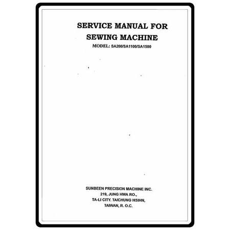 Service Manual, Simplicity SA1500 : Sewing Parts Online