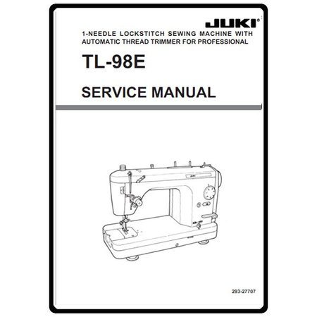 Service Manual, Juki TL-98E : Sewing Parts Online