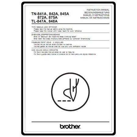 Instruction Manual, Brother TN-872A : Sewing Parts Online