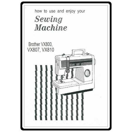 Instruction Manual, Brother VX-800 : Sewing Parts Online