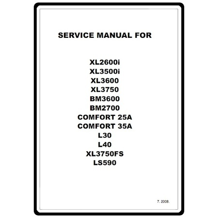 Service Manual, Brother XL2600i : Sewing Parts Online