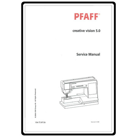 Service Manual, Pfaff Creative 5.0 : Sewing Parts Online