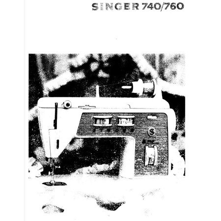 Instruction Manual, Singer 760 (Touch & Sew) : Sewing