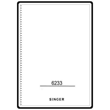 Instruction Manual, Singer 6233 : Sewing Parts Online