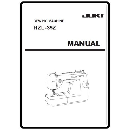 Instruction Manual, Juki HZL-35Z : Sewing Parts Online