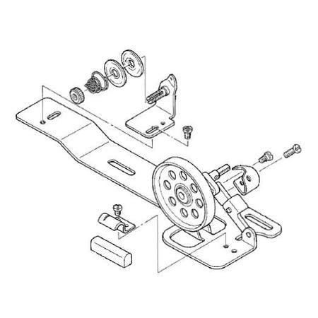 Bobbin Winder Assembly, Juki #D3201-555-DAO : Sewing Parts