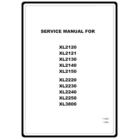Service Manual, Brother XL2120 : Sewing Parts Online