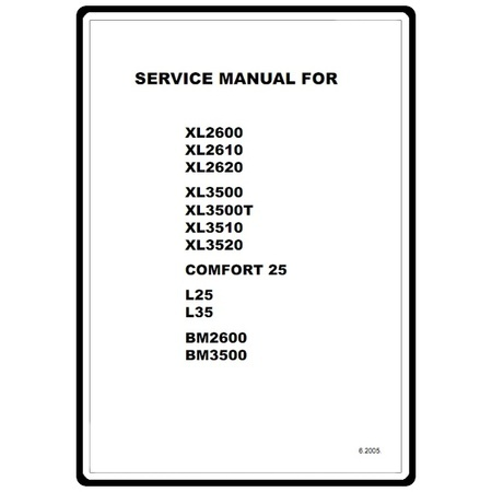 Service Manual, Brother XL2610 : Sewing Parts Online