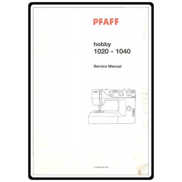 Service Manual, Pfaff 1020 : Sewing Parts Online