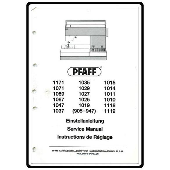 Service Manual, Pfaff 1027 : Sewing Parts Online
