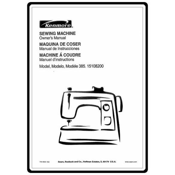 Service Manual, Kenmore 385.15108200 : Sewing Parts Online