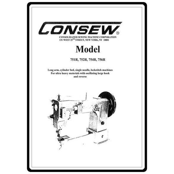 Instruction Manual, Consew 752R : Sewing Parts Online