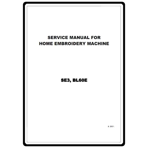 Service Manual, Brother BL60E : Sewing Parts Online
