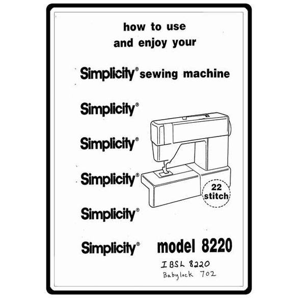 Instruction Manual, Simplicity BL702 : Sewing Parts Online
