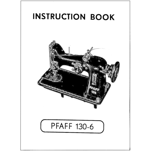 Instruction Manual, Pfaff 130-6 : Sewing Parts Online