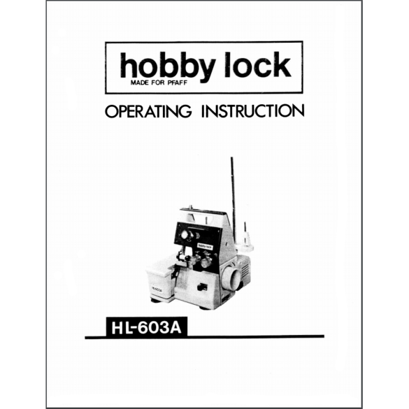 Instruction Manual, Pfaff Hobbylock 603A : Sewing Parts Online