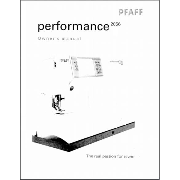 Instruction Manual, Pfaff Performance 2056 : Sewing Parts
