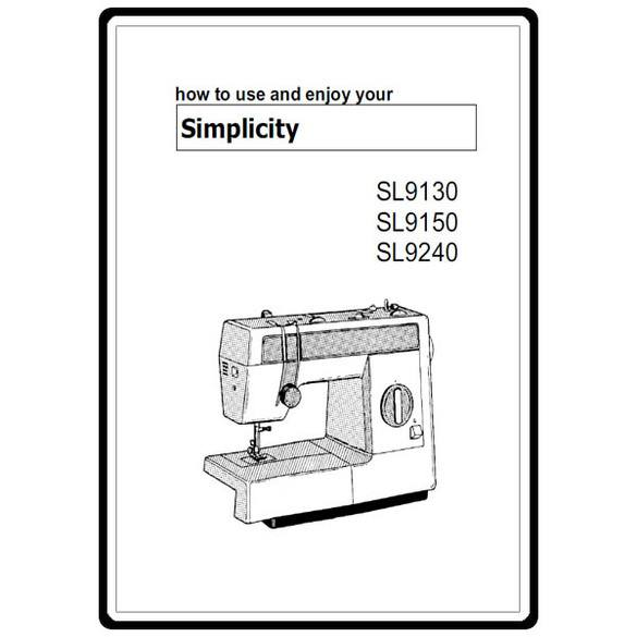 Instruction Manual, Simplicity SL9150 : Sewing Parts Online