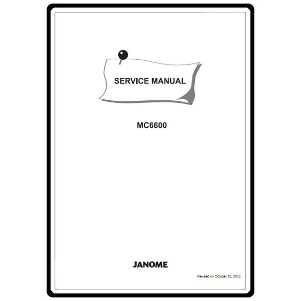 Service Manual, Janome MC6600 : Sewing Parts Online