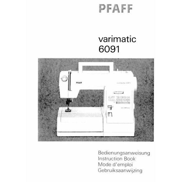 Instruction Manual, Pfaff 6091 Varimatic : Sewing Parts Online