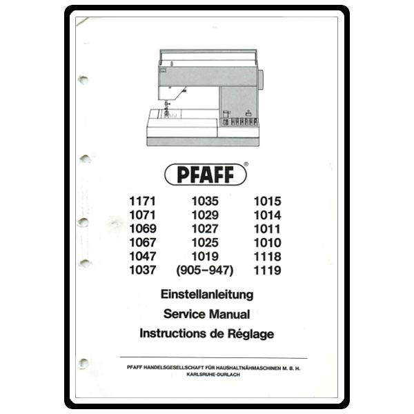 Service Manual, Pfaff 1027 : Sewing Parts Online