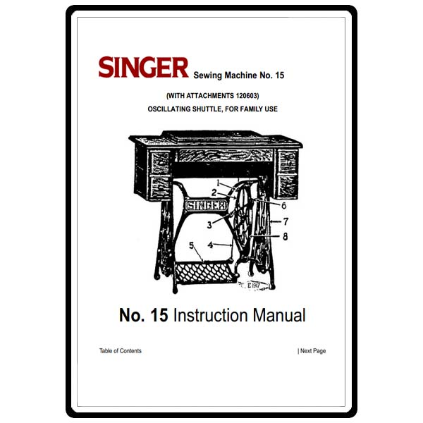 Instruction Manual, Singer 15-30 : Sewing Parts Online