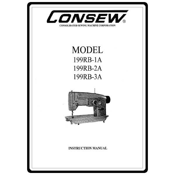 Instruction Manual, Consew 199RB-3A : Sewing Parts Online