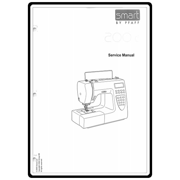 Service Manual, Pfaff 200C : Sewing Parts Online