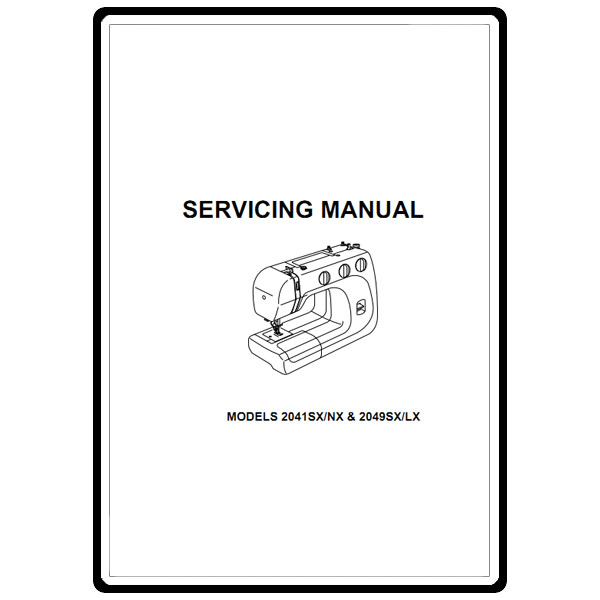 Service Manual, Janome 2049SX/LX : Sewing Parts Online